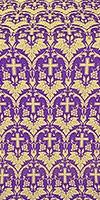 Vinograd silk (rayon brocade) (violet/gold)