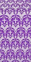 Vinograd silk (rayon brocade) (violet/silver)