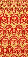 Vinograd silk (rayon brocade) (red/gold)