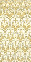 Vinograd silk (rayon brocade) (white/gold)