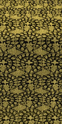 Theophania metallic brocade (black/gold)