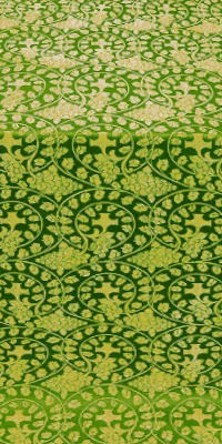 Theophania metallic brocade (green/gold)