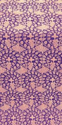 Theophania metallic brocade (violet/gold)