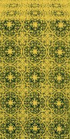 Shouya silk (rayon brocade) (green/gold)
