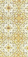 Shouya silk (rayon brocade) (white/gold)
