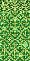 Gouslitsa metallic brocade (green/gold)