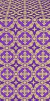 Gouslitsa metallic brocade (violet/gold)