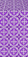 Gouslitsa silk (rayon brocade) (violet/silver)