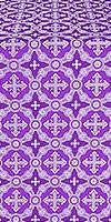 Gouslitsa metallic brocade (violet/silver)