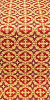 Gouslitsa silk (rayon brocade) (red/gold)