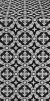 Gouslitsa silk (rayon brocade) (black/silver)