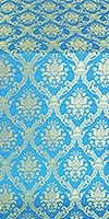 Royal Crown silk (rayon brocade) (blue/gold)