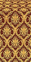 Royal Crown silk (rayon brocade) (claret/gold)