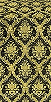 Royal Crown silk (rayon brocade) (black/gold)