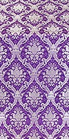 Royal Crown silk (rayon brocade) (violet/silver)