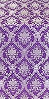 Royal Crown metallic brocade (violet/silver)