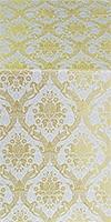 Royal Crown silk (rayon brocade) (white/gold)