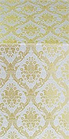 Royal Crown metallic brocade (white/gold)