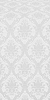 Royal Crown silk (rayon brocade) (white/silver)