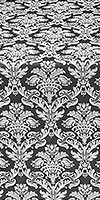 Vazon metallic brocade (black/silver)