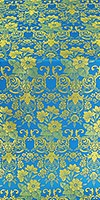 Gloksiniya metallic brocade (blue/gold)