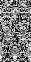 Gloksiniya metallic brocade (black/silver)