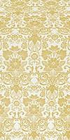 Gloksiniya metallic brocade (white/gold)