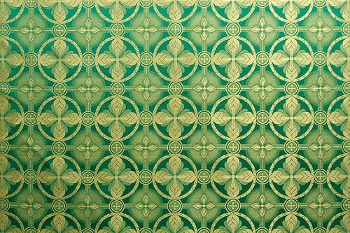 Izborsk metallic brocade (green/gold)