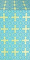 Polotsk silk (rayon brocade) (blue/gold)