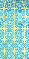 Polotsk metallic brocade (blue/gold)