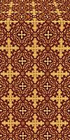 Polotsk silk (rayon brocade) (claret/gold)