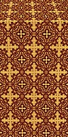 Polotsk metallic brocade (claret/gold)