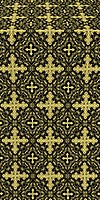 Polotsk metallic brocade (black/gold)