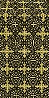 Polotsk metallic brocade (black/gold)