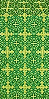 Polotsk metallic brocade (green/gold)