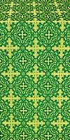 Polotsk metallic brocade (green/gold)