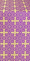 Polotsk silk (rayon brocade) (violet/gold)