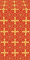 Polotsk silk (rayon brocade) (red/gold)
