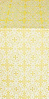 Polotsk metallic brocade (white/gold)