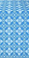 Vasilisa silk (rayon brocade) (blue/silver)