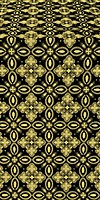Vasilisa silk (rayon brocade) (black/gold)