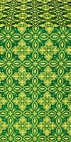 Vasilisa silk (rayon brocade) (green/gold)