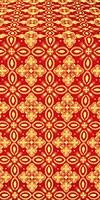 Vasilisa silk (rayon brocade) (red/gold)