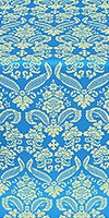 Cassowary metallic brocade (blue/gold)