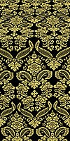 Cassowary metallic brocade (black/gold)