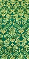 Cassowary metallic brocade (green/gold)