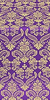 Cassowary metallic brocade (violet/gold)