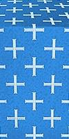 Eufrosinia metallic brocade (blue/silver)