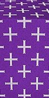 Eufrosinia metallic brocade (violet/silver)