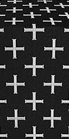 Eufrosinia metallic brocade (black/silver)